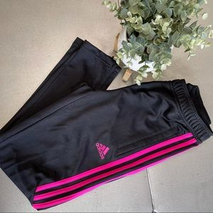 ADIDAS joggers black /pink Athletic CLIMACOOL M